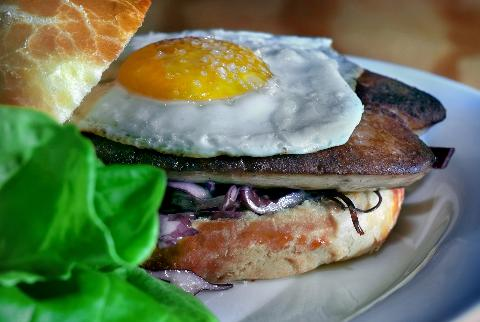 Bachelor Farmer, Fried Chicken Egg Pheasant sandwich